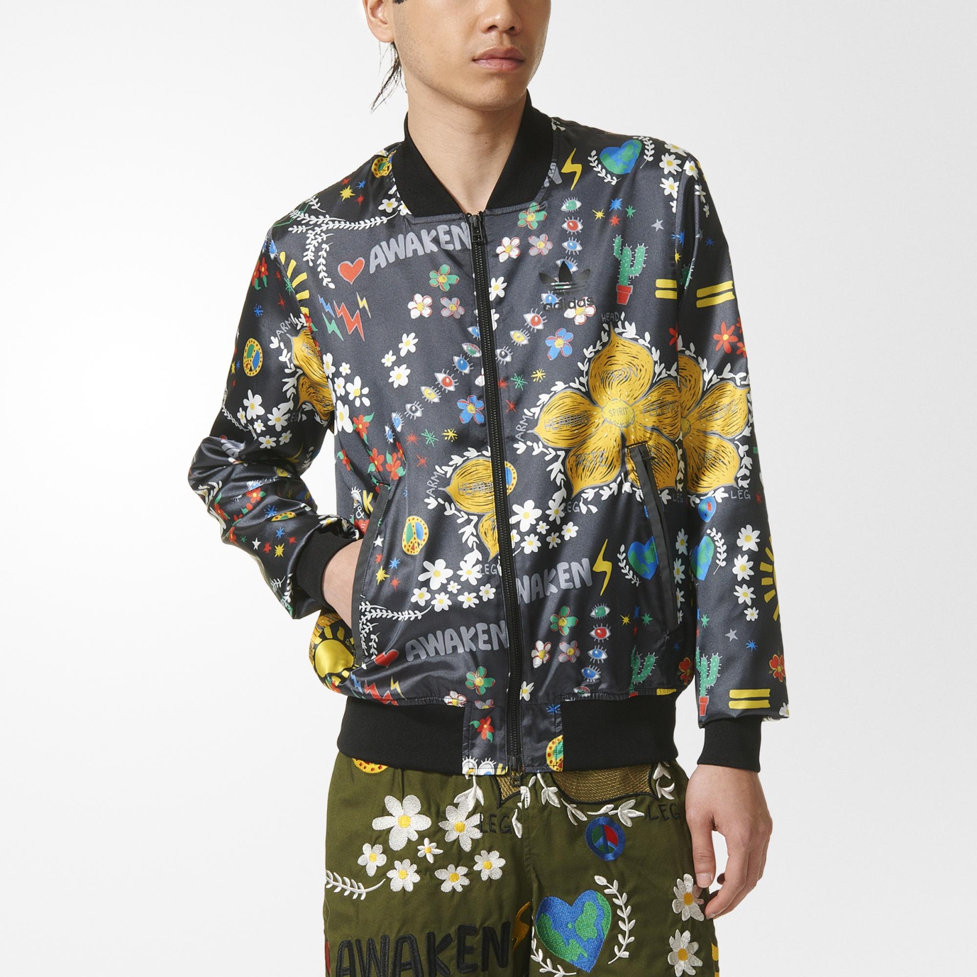 adidas pharrell williams artist printed blouson jacket black adidas us. Black Bedroom Furniture Sets. Home Design Ideas