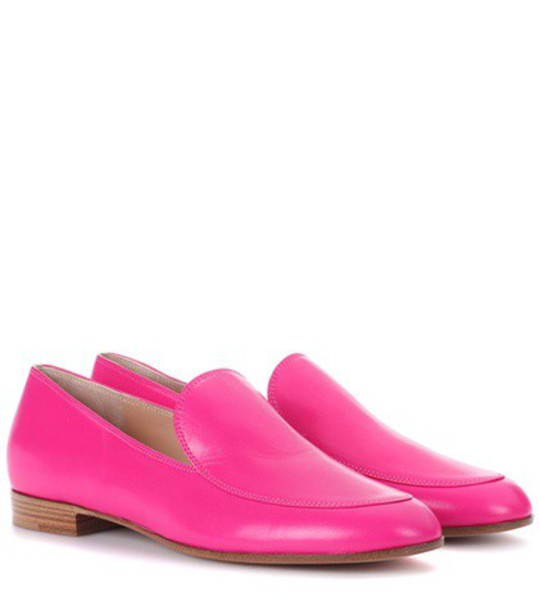 Gianvito Rossi loafers leather pink shoes