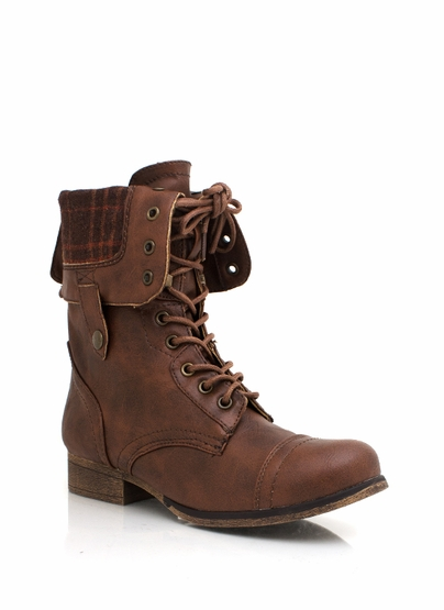 lining combat boots $32.70 in BROWN - Boots | GoJane.com