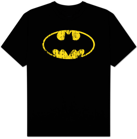 Batman-Classic Logo Distressed Shirts at AllPosters.com