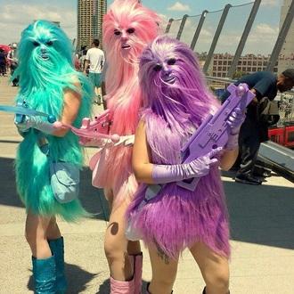 dress fur coat fur neon funny halloween costume costume