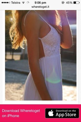 dress white lace sexy backless