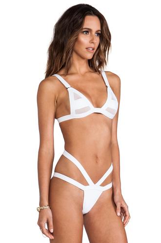swimwear highcut swim white bikini mesh swimwear sexy bikini