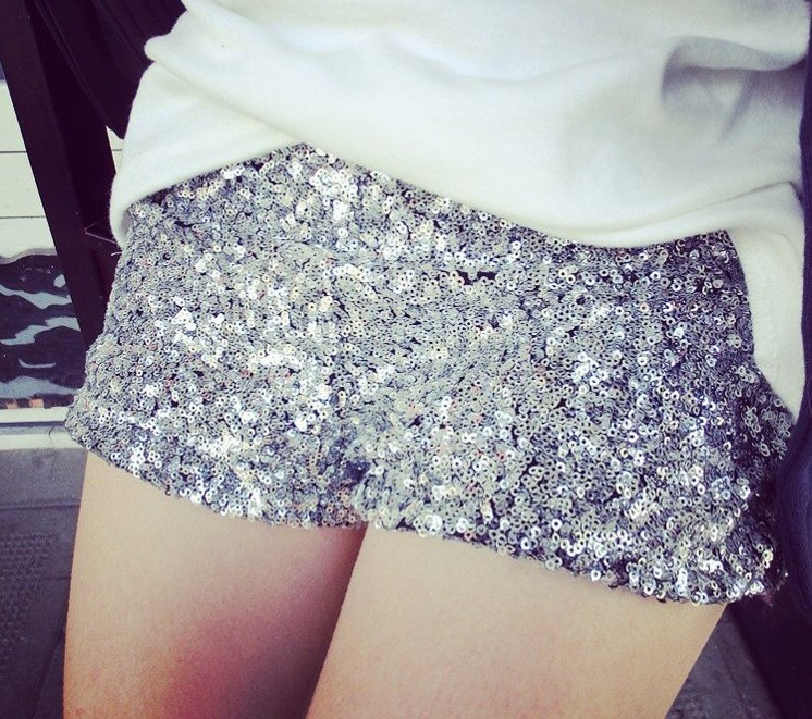 Fashion 2014 Women`s Embellished All Over Sexy Party Bling Bling Sequined Shorts Hot Pants Bootie Shorts Free Shipping -in Shorts from Apparel & Accessories on Aliexpress.com