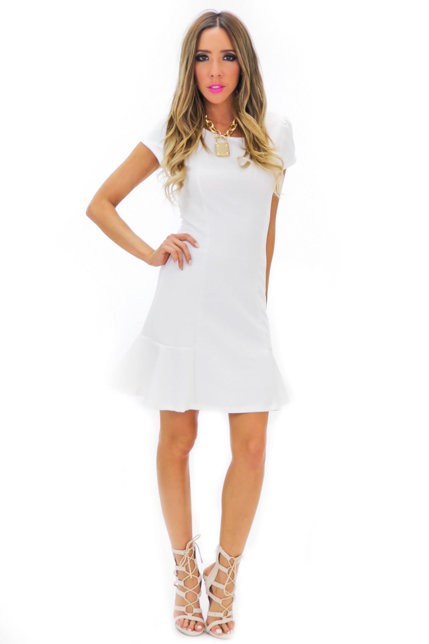 BECKA SHIFT DRESS - White | Haute & Rebellious