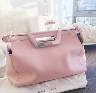bag tumblr pink pink bag balenciaga bag purse balenciaga light pink bag white and pink