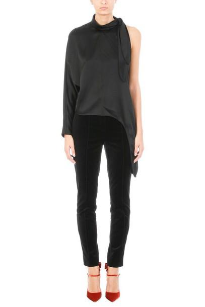 Diane Von Furstenberg blouse black silk top