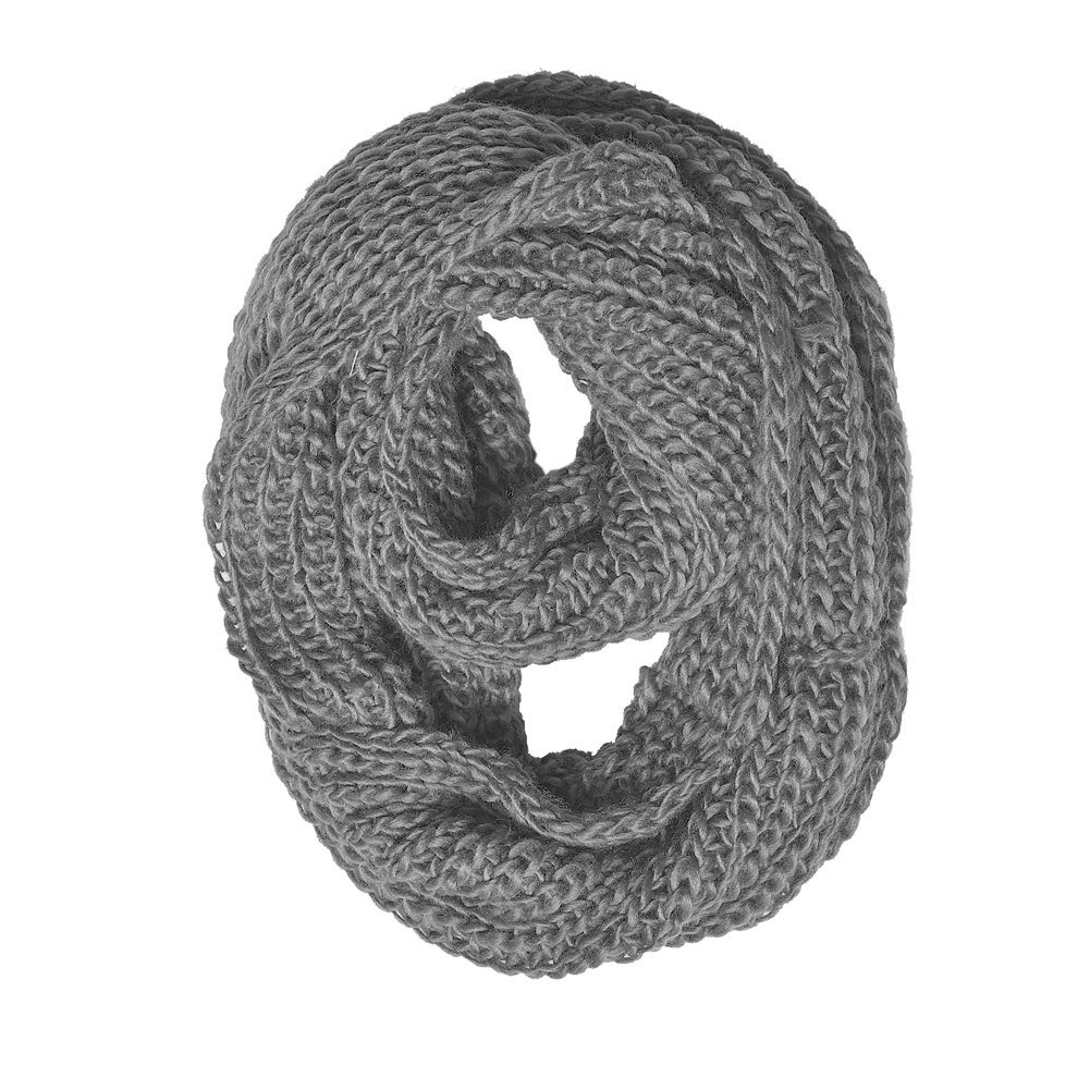 Amazon.com: chunky knit infinity scarf grey color: everything else