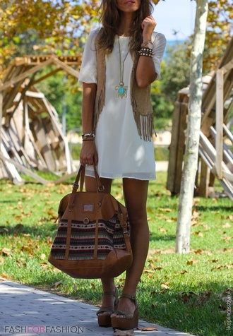 bag american native aztec tribal pattern stripes jewels jacket boho chic boho bohemian dress bohemian leather brown brown leather bag white dress ripped hippie hippie chic