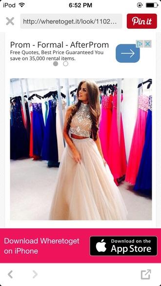 dress 2 piece prom dress