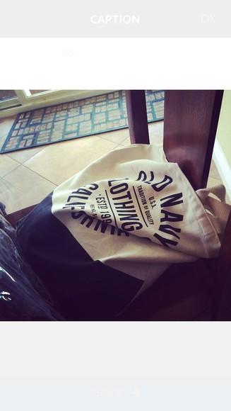 bag tote bag black simple old navy
