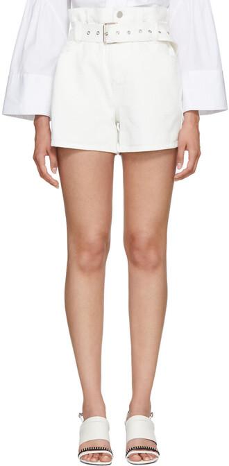 shorts denim white off-white