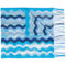 Missoni - zig zag crochet knit scarf - women - viscose - one size, blue, viscose