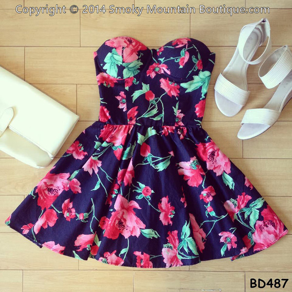 dress bustier dress sexy dress floral dress short party dresses short prom dress short dress
