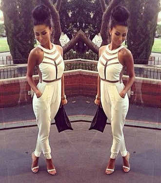 pants jumpsuit white dress romper ebonylace.storenvy ebonylace shirt jeans blouse white jumpsuit mesh formal jumpsuit cut-out pantsuit jumper white dress dope fashion shitts cute dress cute bag watch high heels sexy