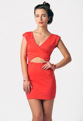 dress,coral dress,cut-out dress,party dress,clubwear,bodycon dress,last night