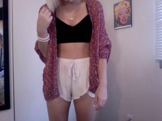 cardigan grunge sweater shorts hispster emo goth scene grunge wishlist