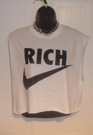 unisex customised rich tick crop top grunge t shirt M | mysticclothing | ASOS Marketplace
