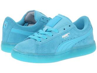 shoes classic iced blue puma suede