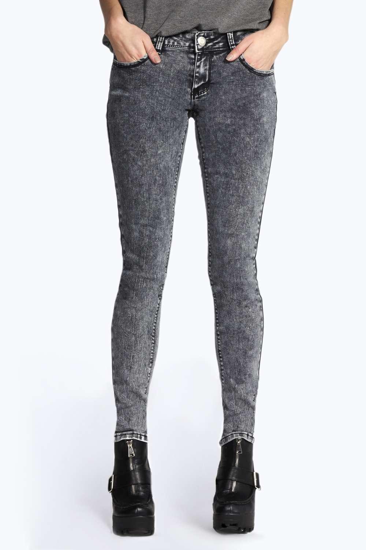 Evie Low Rise Acid Wash Super Skinny Jeans