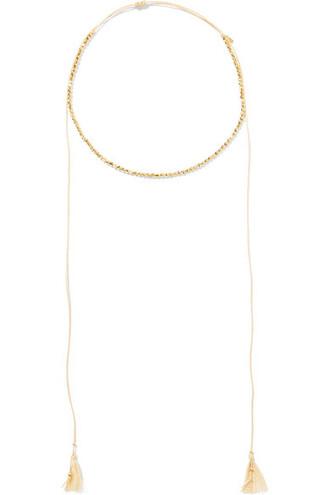 necklace gold cotton jewels