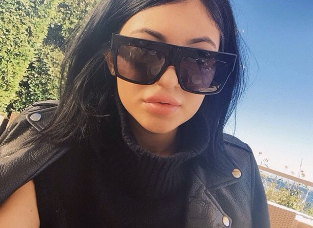 sunglasses, kylie jenner, black sunglasses, eyewear ...