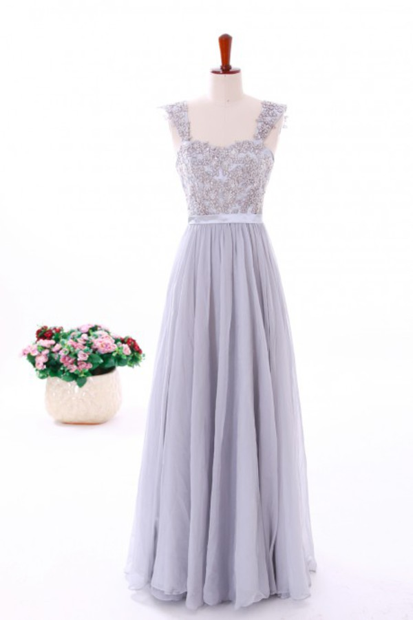 beaded dress grey dress grey dress chiffon dress prom dress prom dress evening dress evening dress summer dress straps dress women dress long chiffon dress