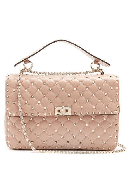 VALENTINO Rockstud Spike large quilted-leather shoulder bag