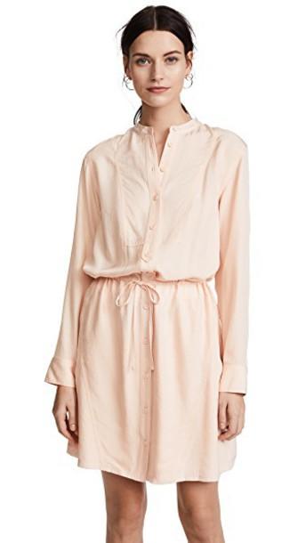 Jason Wu Grey shirtdress long rose pale dress