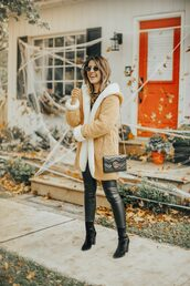 stephanie sterjovski - life + style,blogger,jacket,leggings,shoes,bag,fall outfits,gucci bag,boots,ankle boots