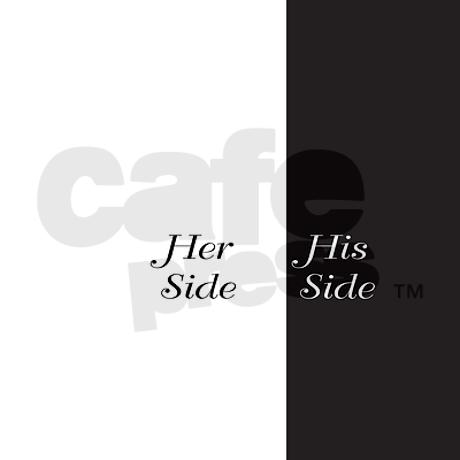 Her Side / His Side Queen Duvet by DecorativeDesigns