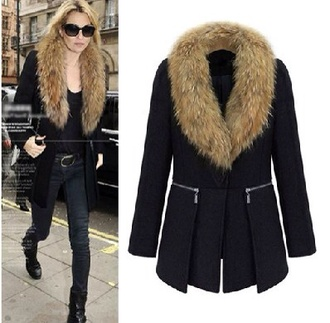 coat faux fur coat fur fourrure
