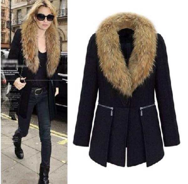 coat faux fur coat fur fourrure