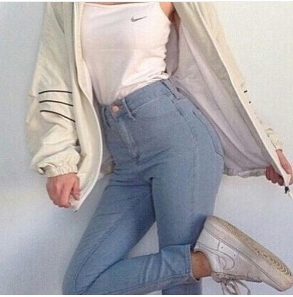 shirt nike tank top white