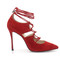 4 inch heels - classic red suede high heel pumps