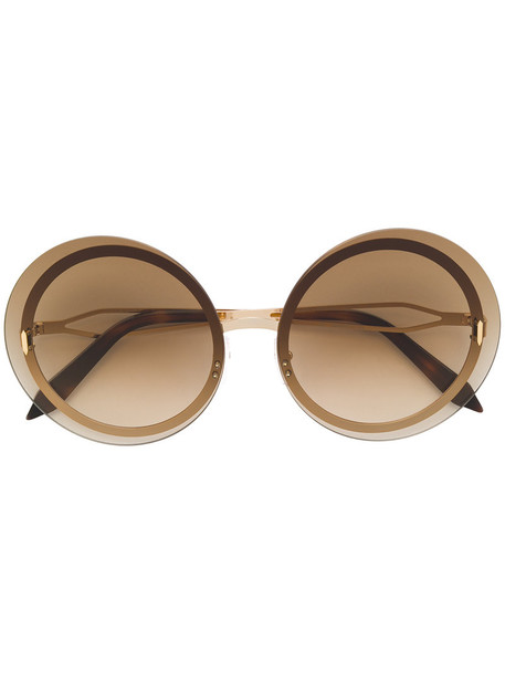 women sunglasses round sunglasses gold brown