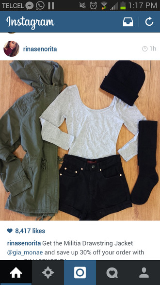 jacket military style army green dope nice basic gray fall outfits