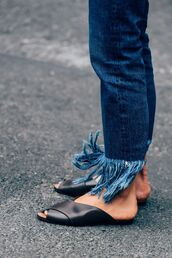 jeans,3x1,cropped jeans,straight jeans,fringes,fringed jeans,frayed denim