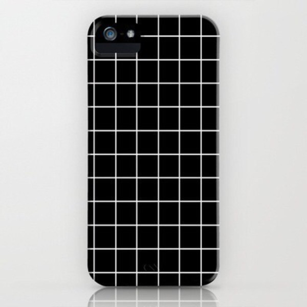 Phone Cover Black White Iphone Case Checkered Grunge
