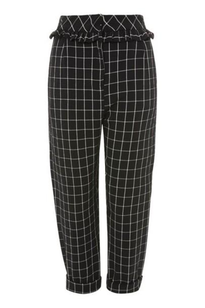 Topshop ruffle monochrome pants