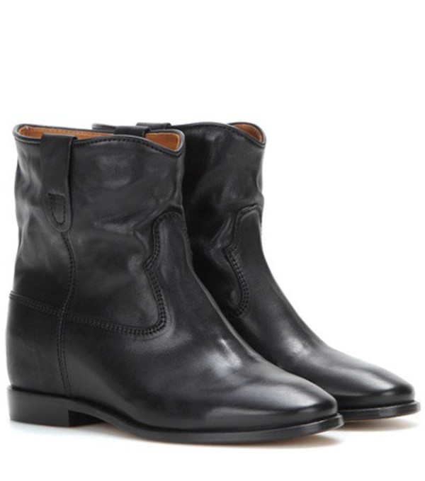 Isabel Marant Cluster leather boots in black