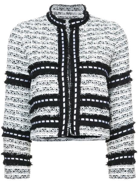 Alexis - Federikka tweed jacket - women - Polyester/Nylon - M, White, Polyester/Nylon