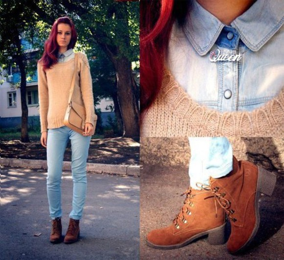 veste shoes pull sweater