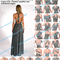 2015 summer sexy women maxi dress red bandage long dress sexy v neck wrap around design robe longue femme 4380-in dresses from women's clothing & accessories on aliexpress.com   alibaba group