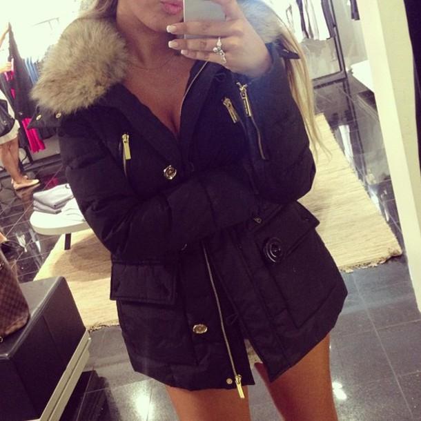 Jacket Michael Kors Winter Jacket Fur Wheretoget