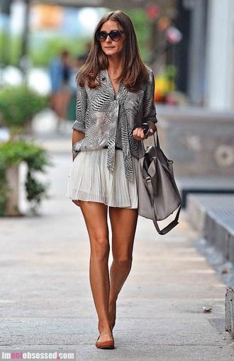 skirt pleated skirt olivia palermo