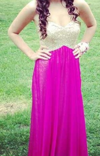dress purple gold sparkle prom dress
