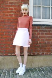 stella's wardrobe,blogger,skirt,jacket,shoes,white sneakers,superga