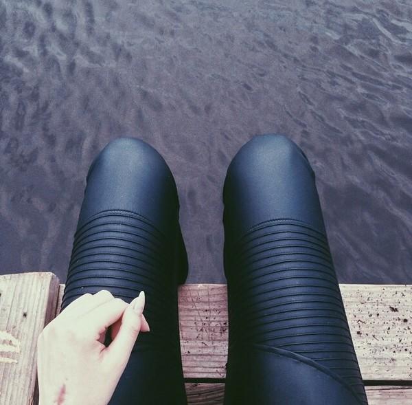 leggings leather pants leather black