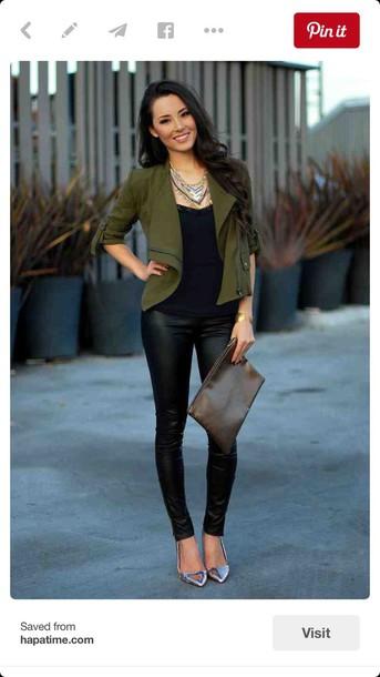 b0378dc431dca0 jacket, shoes, leggings, jeggings, faux leather, pants, pinterest ...